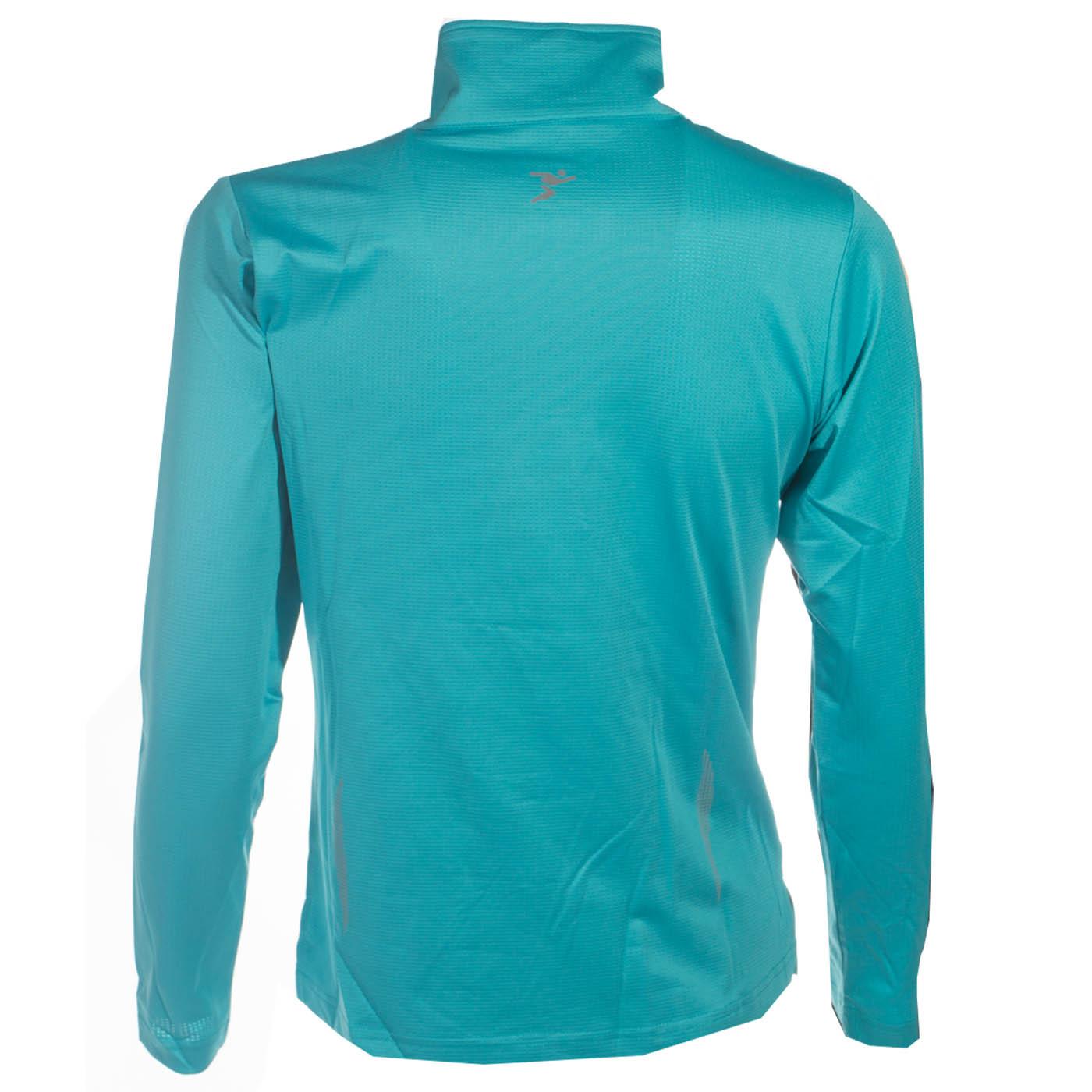 Precision Running Womens Ladies 1//4 Zip Fitness Shirt Top Turquoise