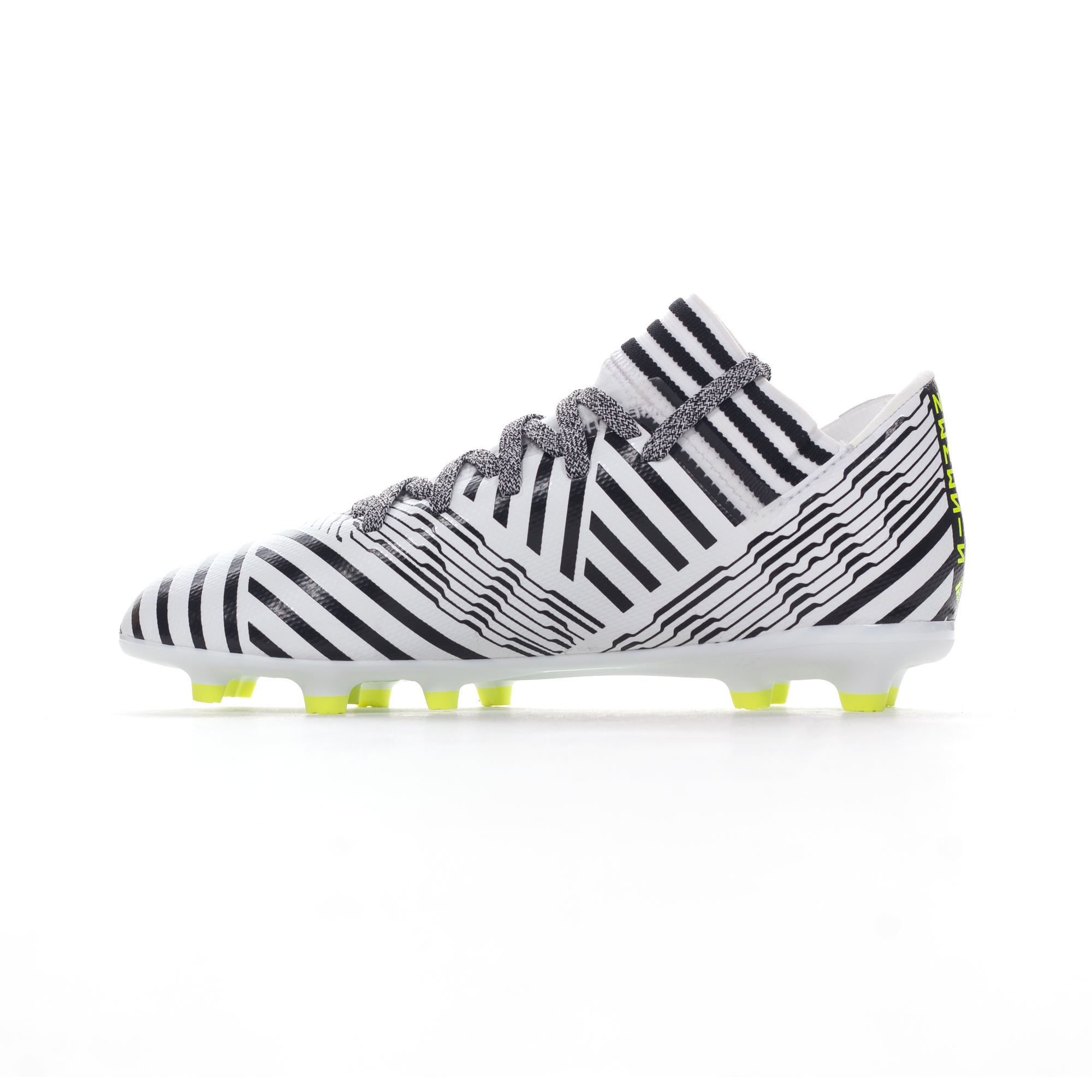 d03d9b0d50a adidas Nemeziz 17.3 FG Kids Football Boot White Black Dust Storm - UK 10