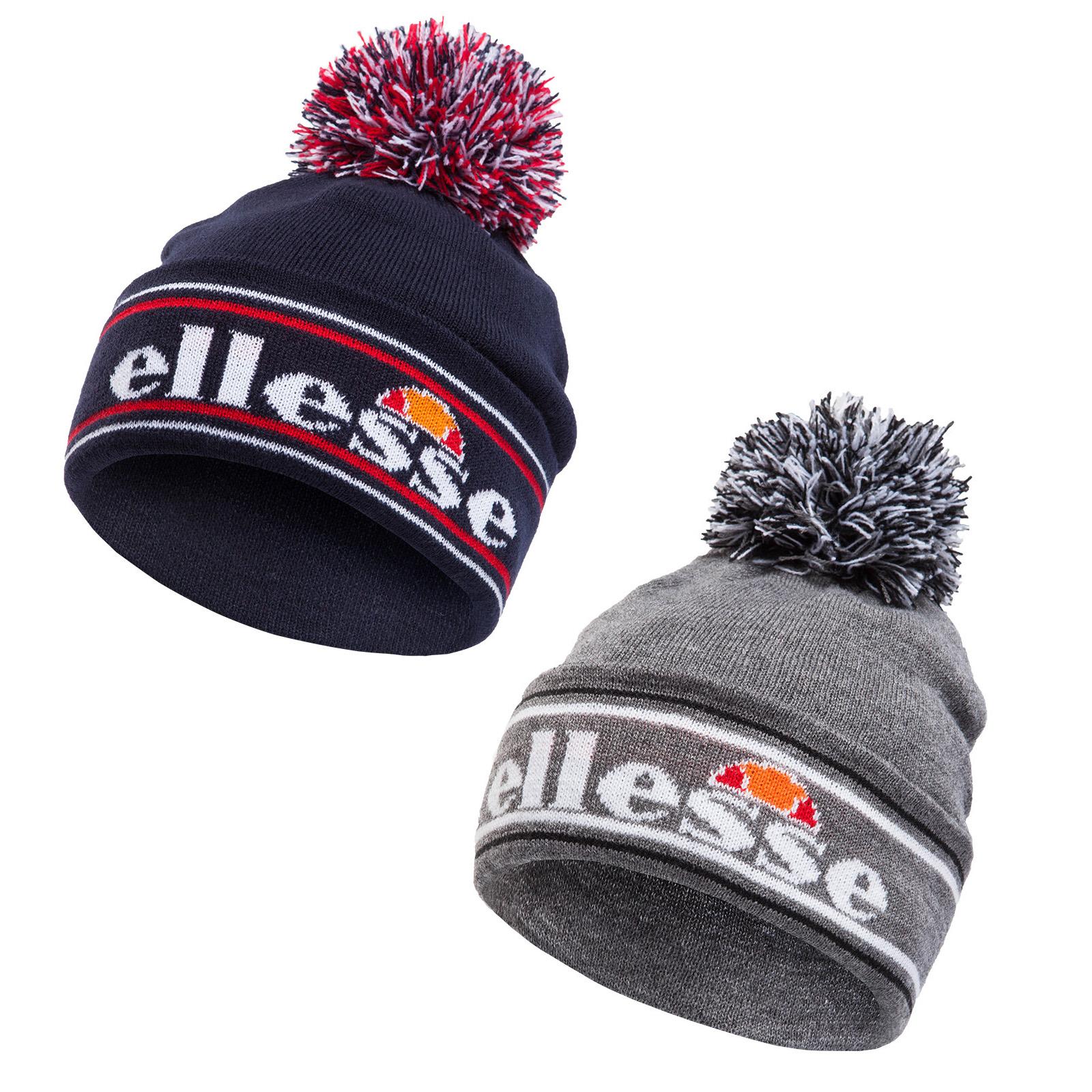 Ellesse Monza Pom Pom Beanie Bobble hiver bonnet tricoté
