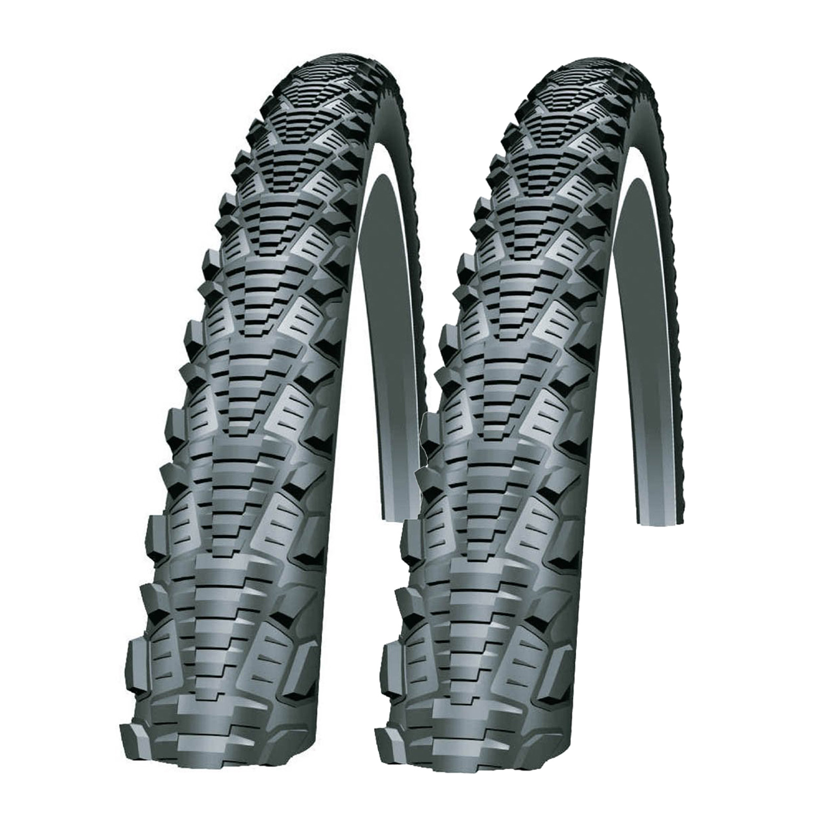 2X Schwalbe Cx Comp 700 X 35C Wired Cyclocross Bike Bicycle Tyres (1 Pair)