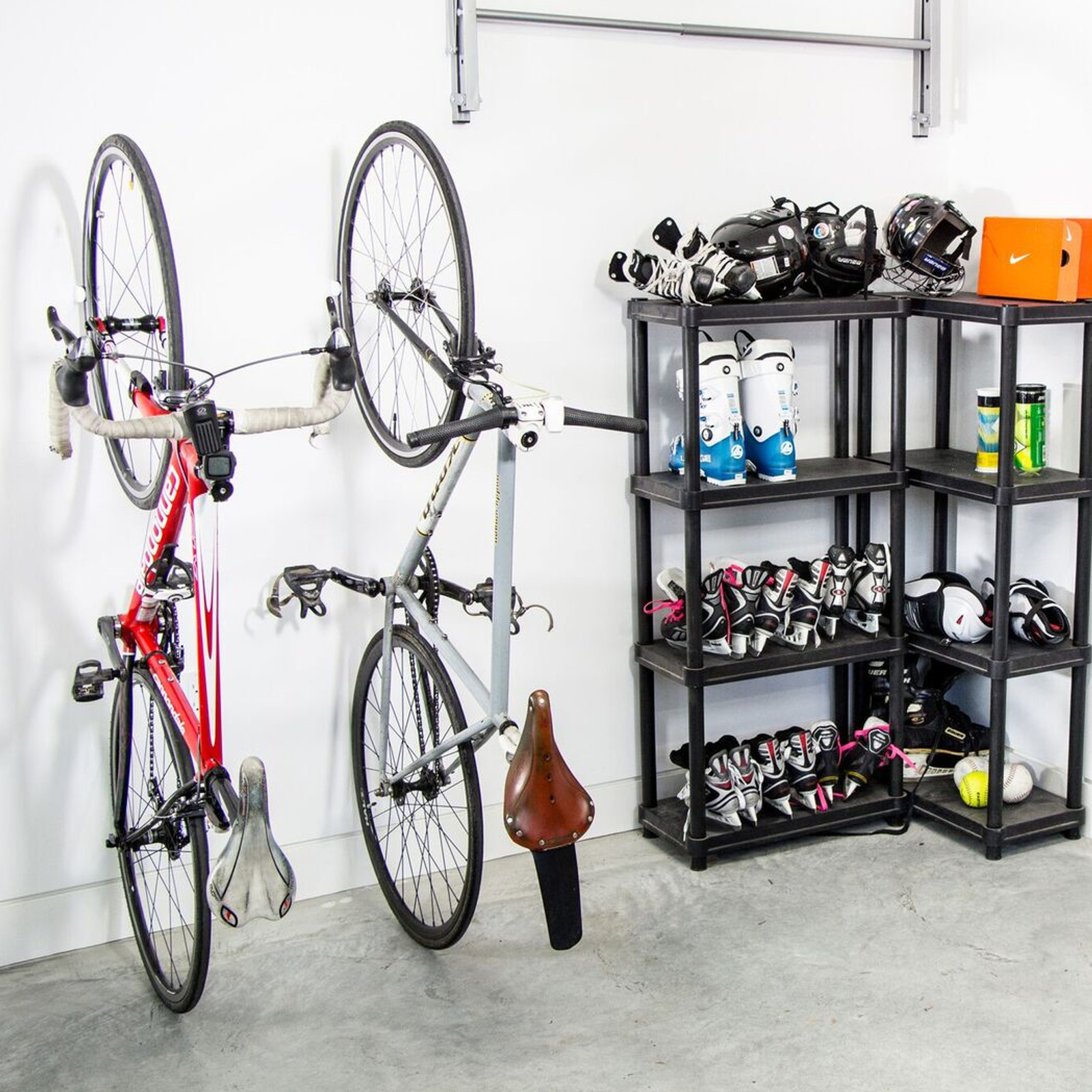 x bike white pipe mounted design regarding wall bicycle size shelfie rack mount homemade on hook with