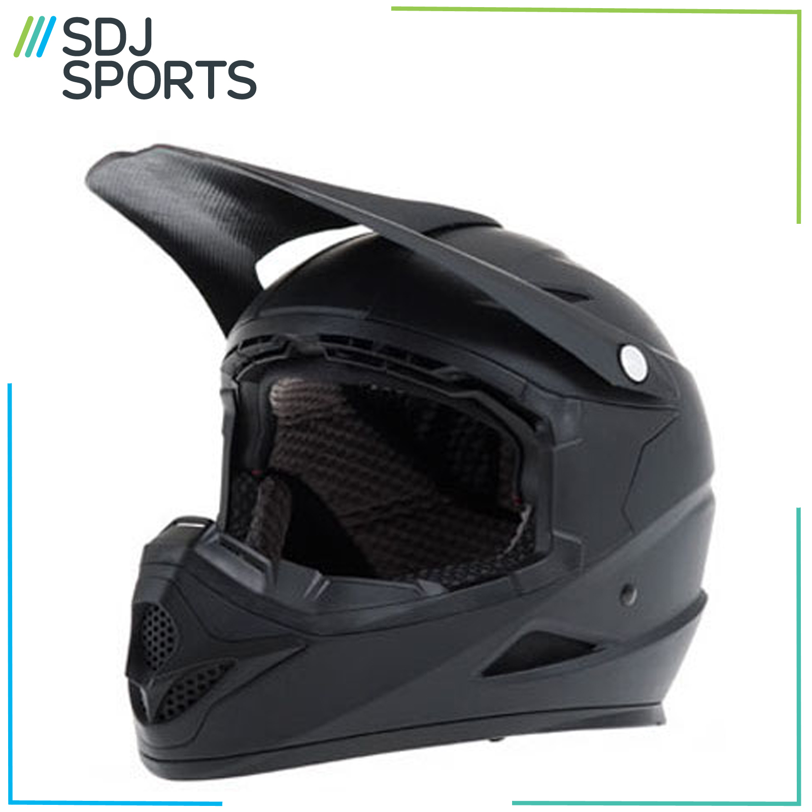 Diamondback Full Face Bike Helmet Mountain Bmx Mtb Black Cycle