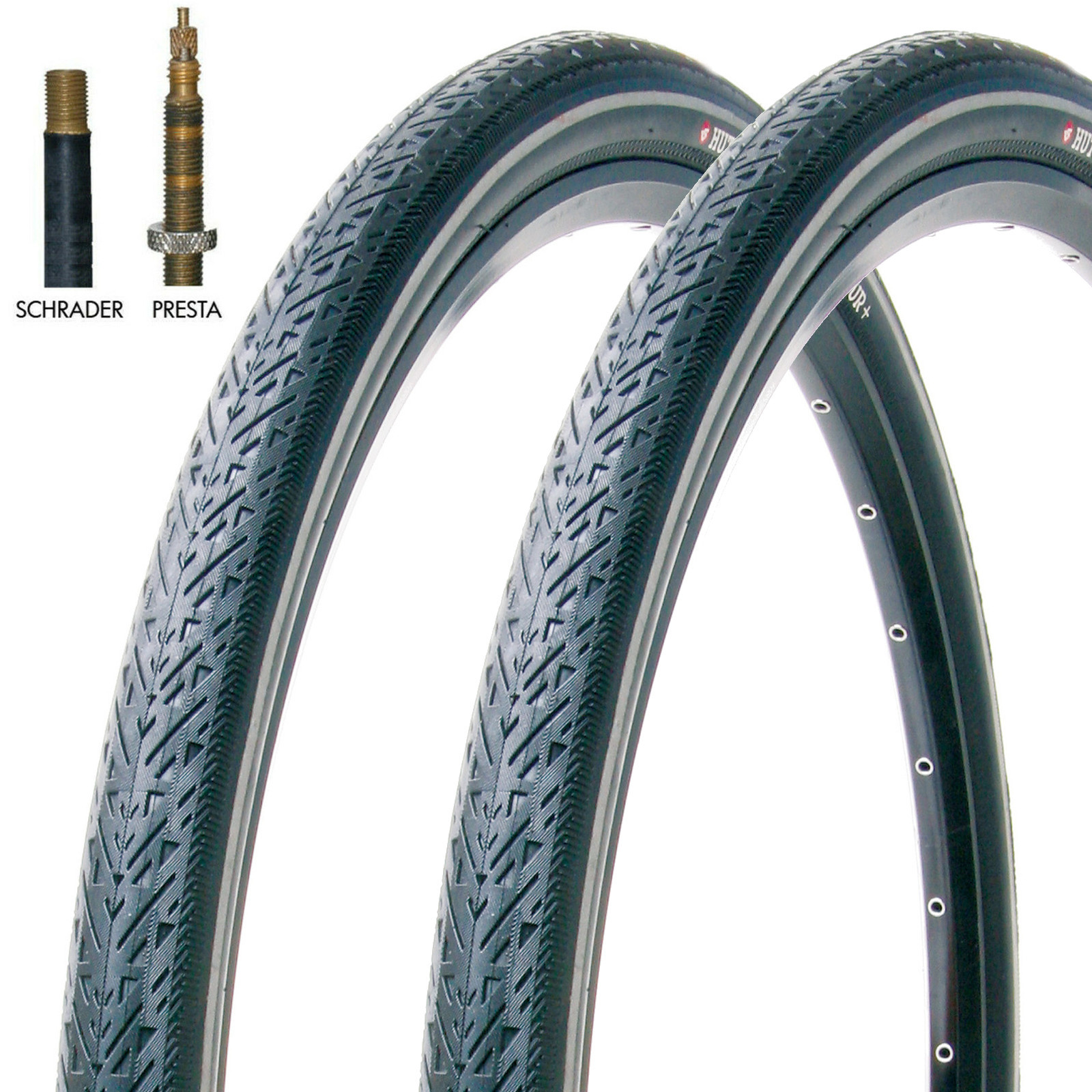 700C-City-Bike-Tyres-amp-Schrader-Tubes-Hutchinson-Urban-Tour-700-X-35C-Pair