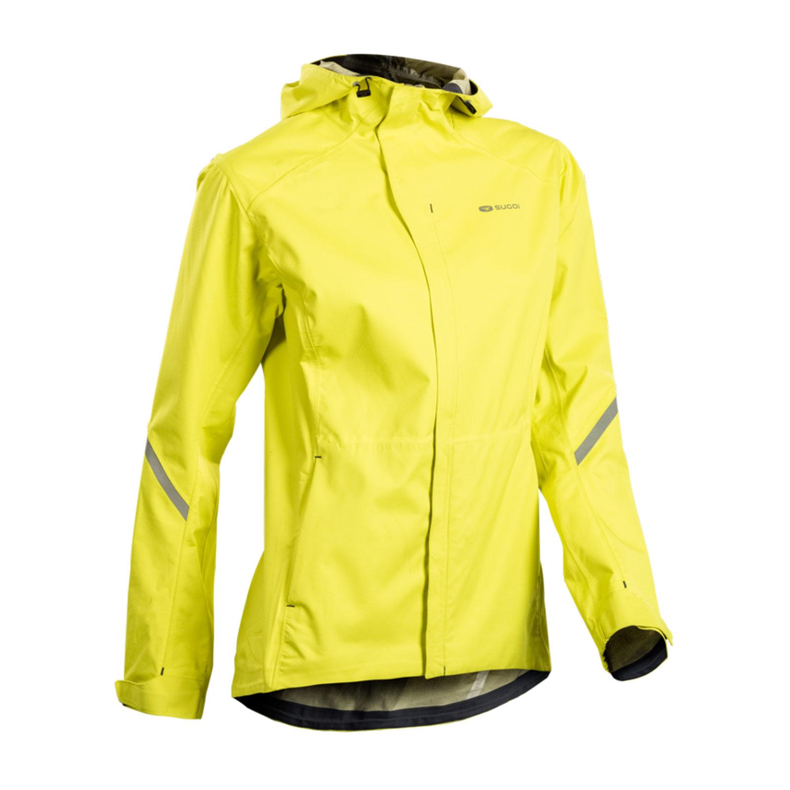 SUGOI Metro Waterproof Running Jacket With Hood Womens Yellow XS ...