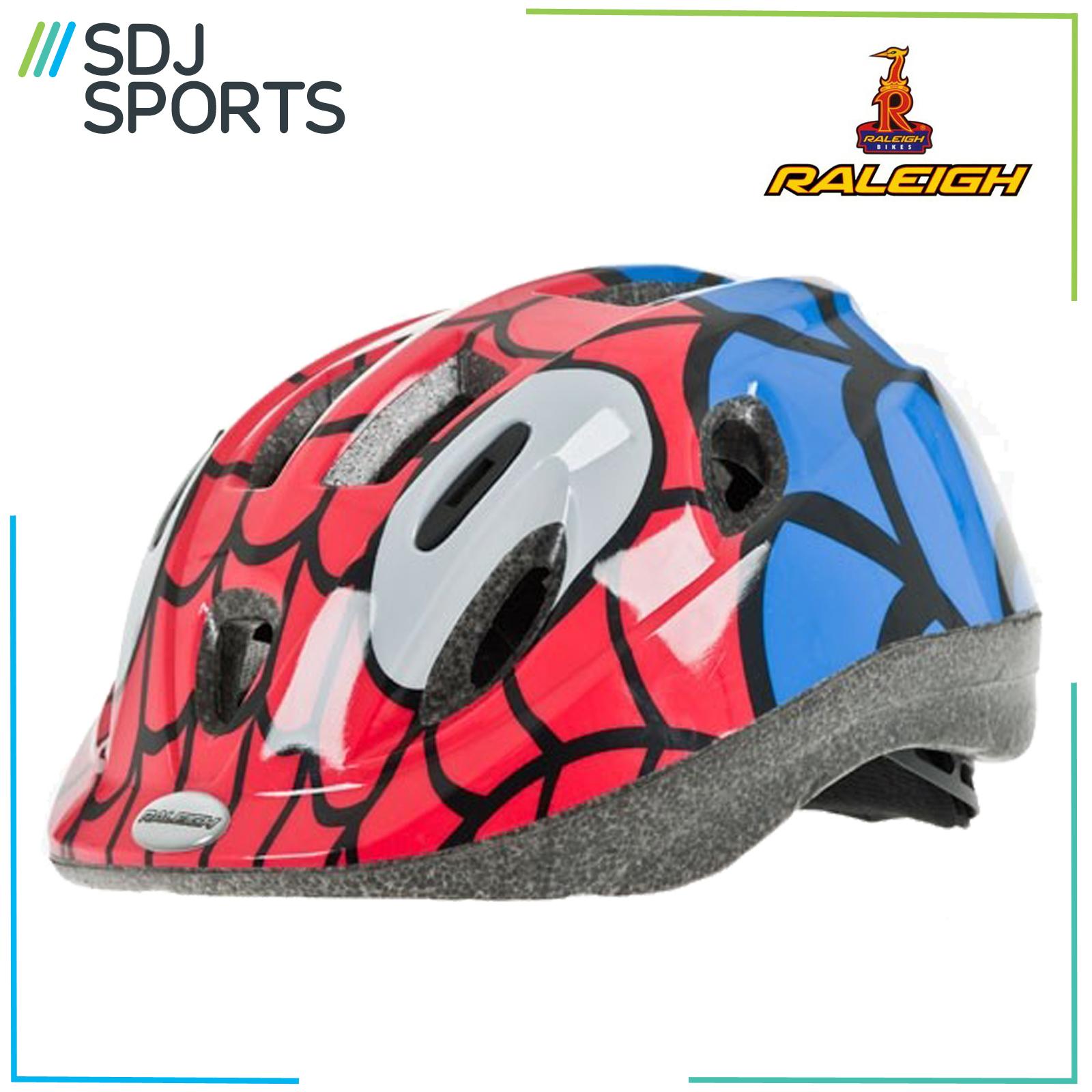 NEW Raleigh Mystery Spiderman Kids Boys Childs Cycle Bike Helmet 48-54cm