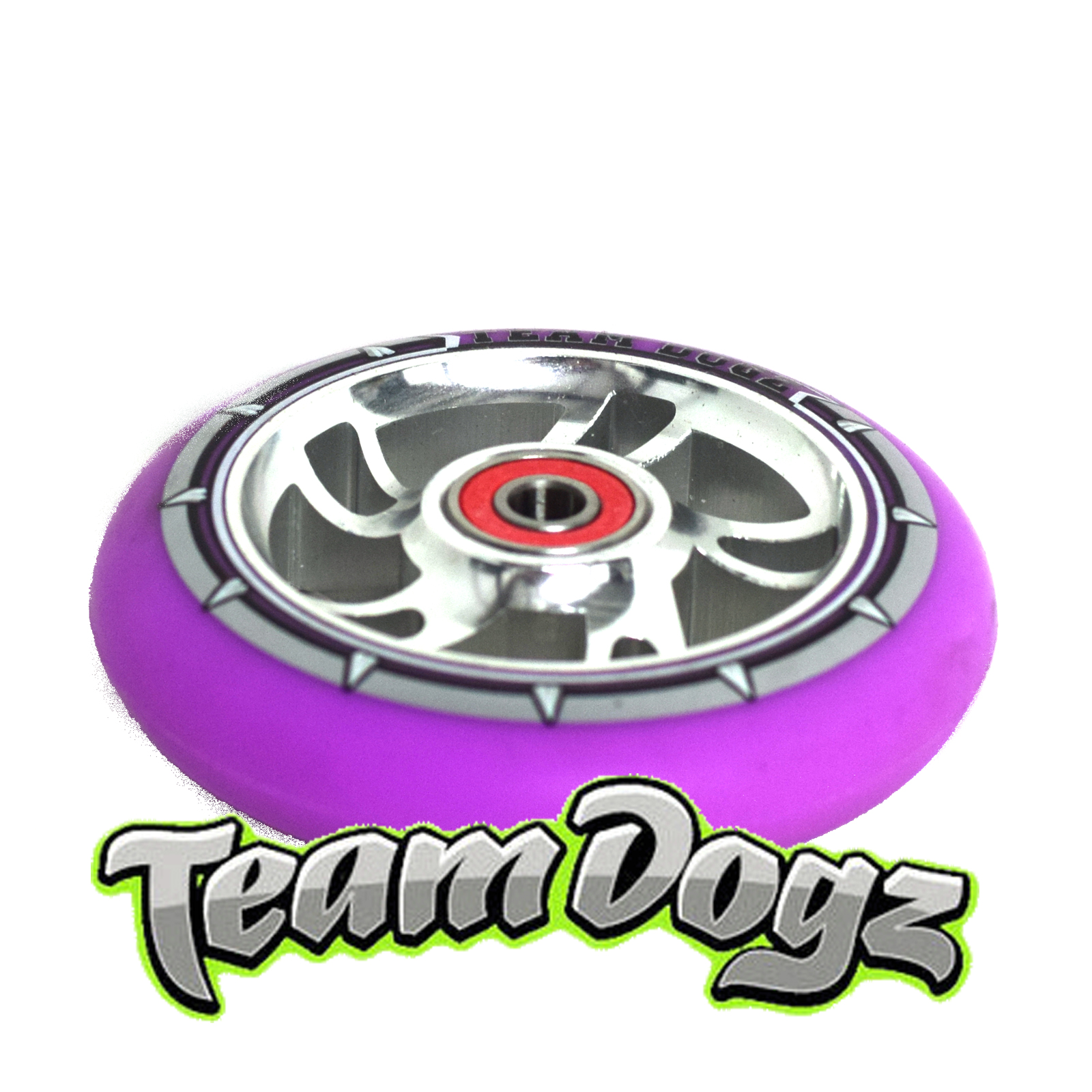 Team-Dogz-100Mm-110Mm-Or-120Mm-Scooter-Wheel-Swirl-Core-Colour-Tyre-Abec-Bearing