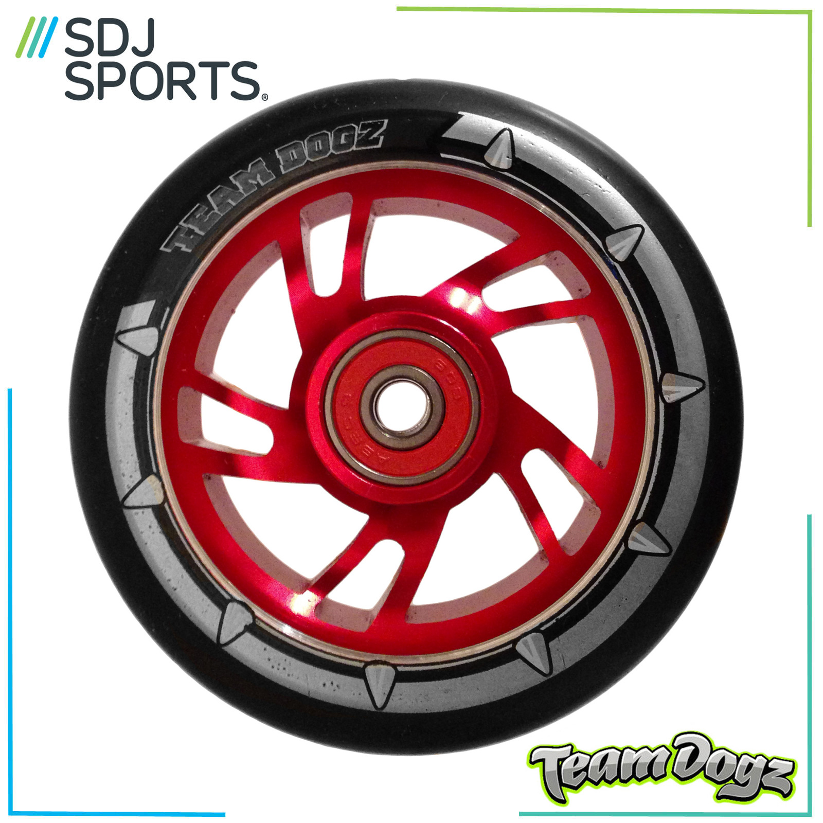 Team-Dogz-100Mm-Swirl-Core-Scooter-Wheel-With-Black-Tyre-amp-Abec-Bearings