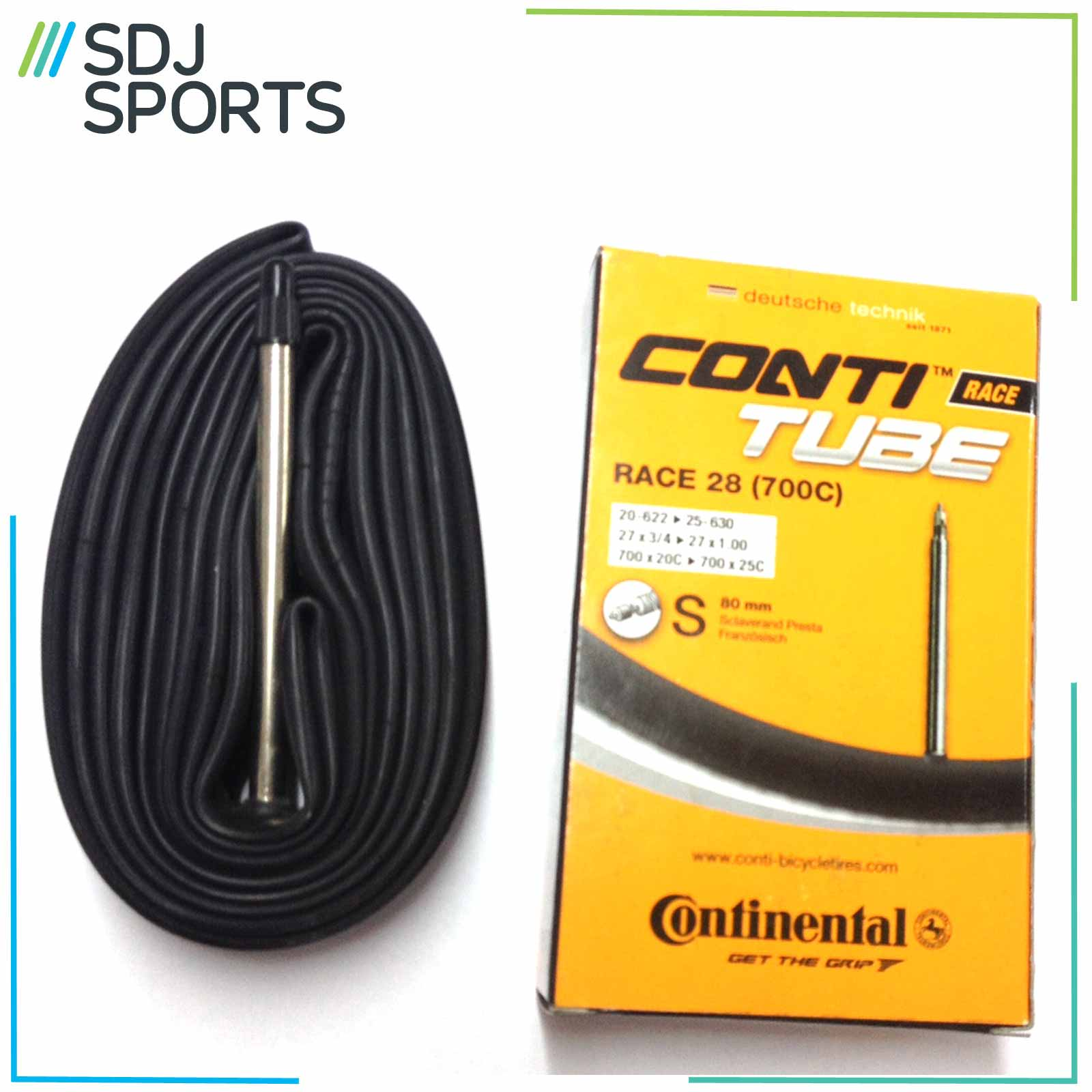 1X Continental Race 20-25 700C Inner Tube 80Mm Presta Valve Road Racing Bikes