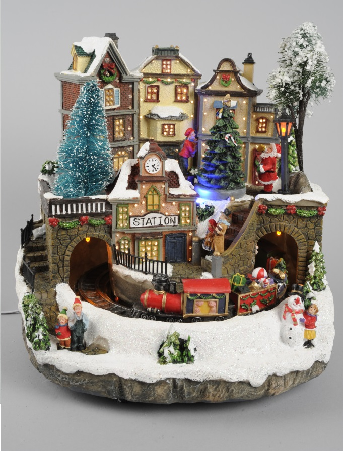 Light Up DEL décoration de Noël-Hiver Village de Scene Mobile de Village Noël OrneHommes t c7af42