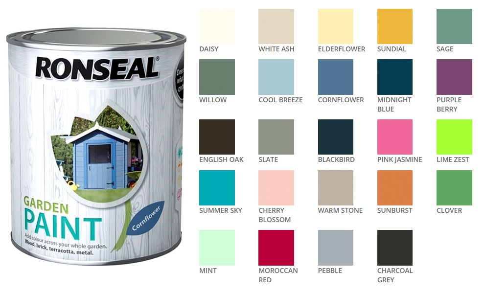 Ordinaire Details About Ronseal Outdoor Garden Paint   For Exterior Wood Metal Stone  Brick   All Colours
