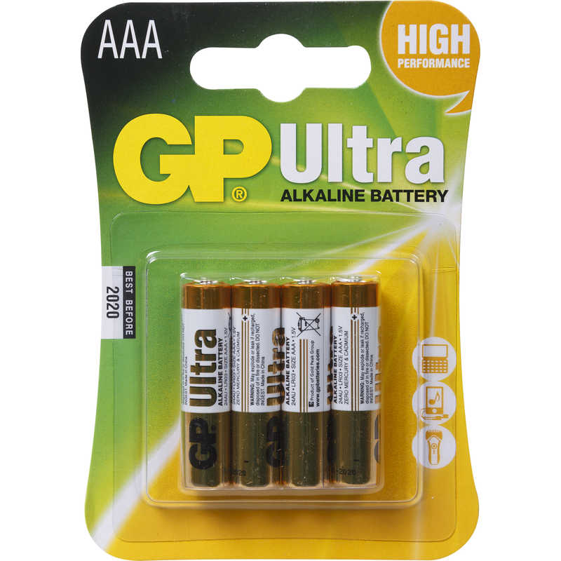 Gp Ultra Battery Aaa 4pk