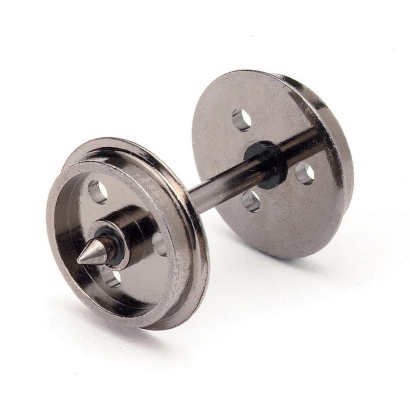 Hornby R8097 3 Hole Disc Wheels on Axles (10 sets)
