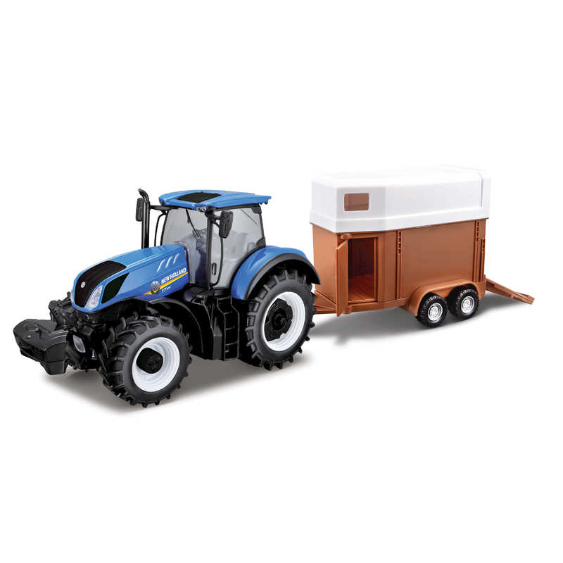 1:32 New Holland T7hd Tractor With Horse Trailer