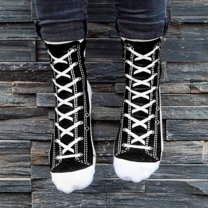 Silly Socks - Black Sneaker (Size 5-11)