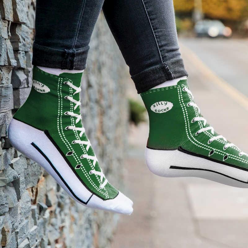 Silly Socks - Green Sneaker (Size 5-11)