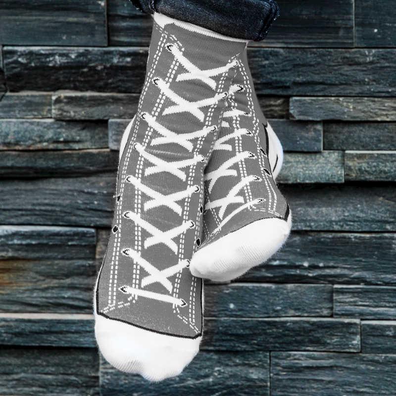 Silly Socks - Grey Sneaker (Size 5-11)