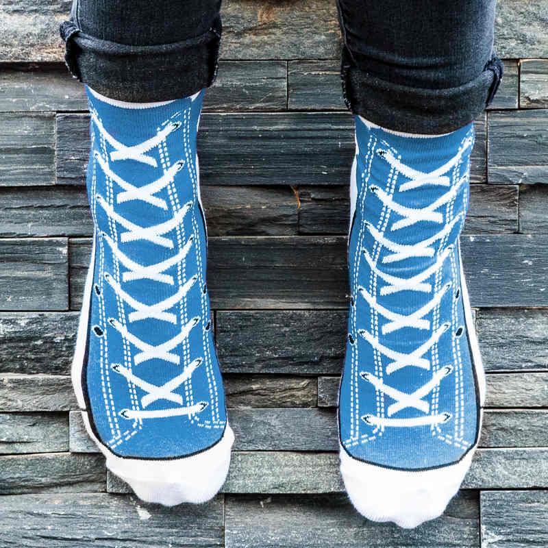 Silly Socks - Blue Sneaker (Size 5-11)