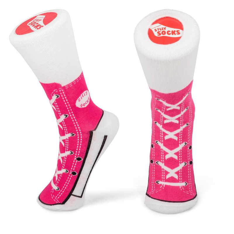 Silly Socks - Pink Sneaker (Size 3-7)