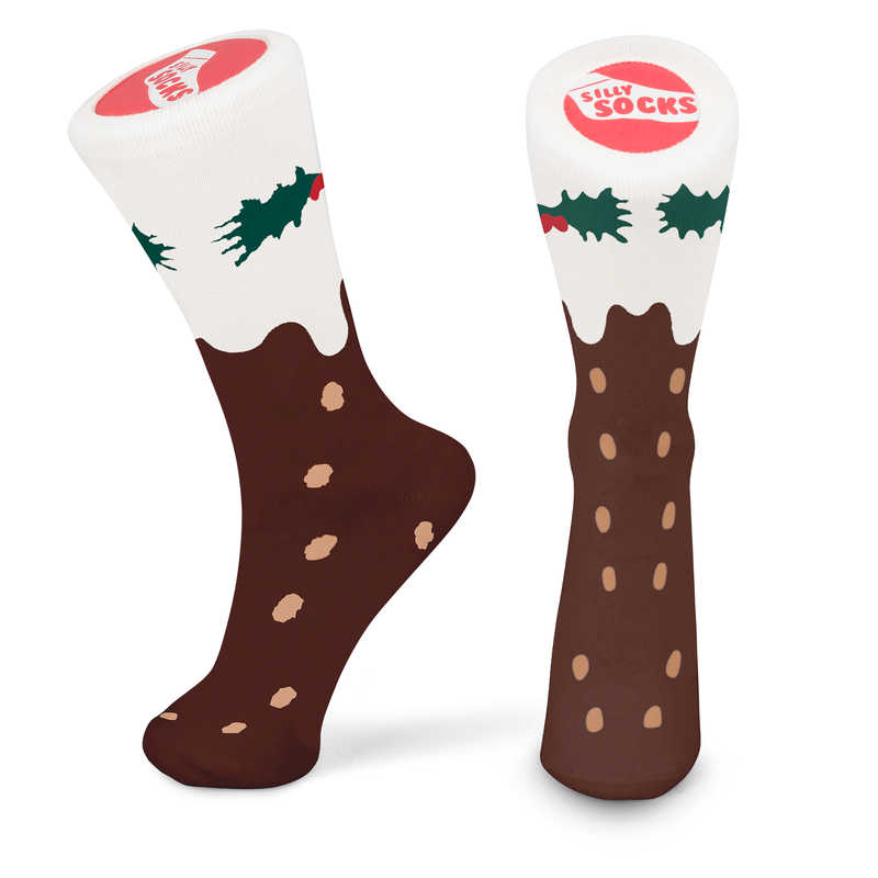 Silly Socks - Christmas Pudding (Size 5-11)