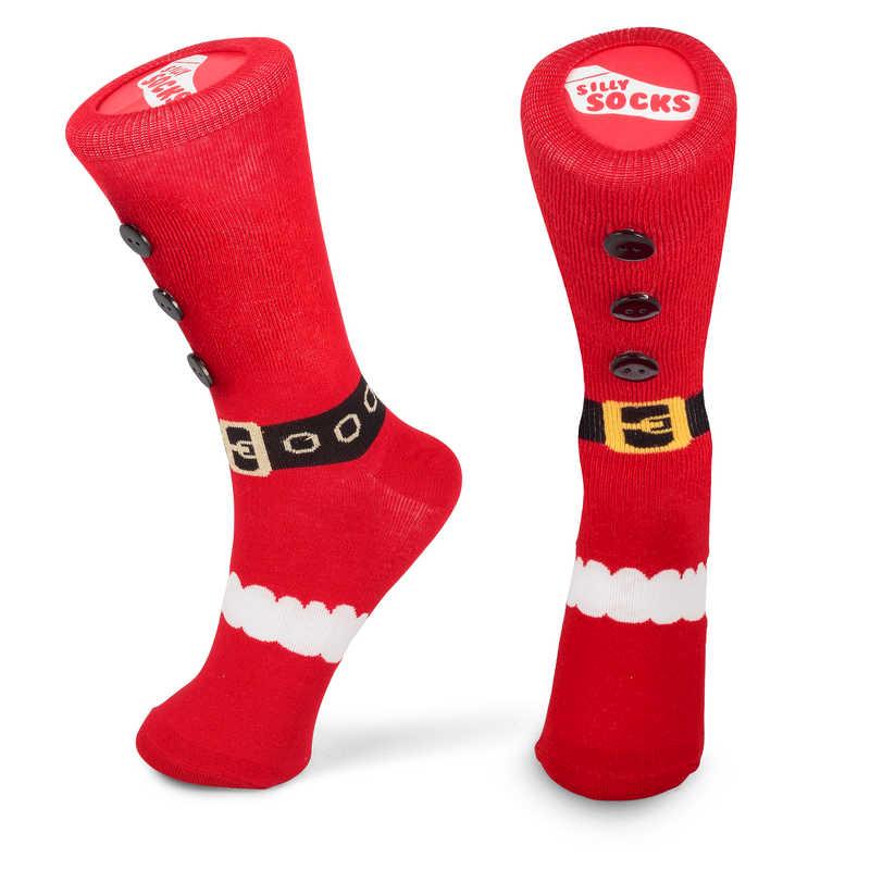 Silly Socks - Santa Slipper Sock (Size 5-11)