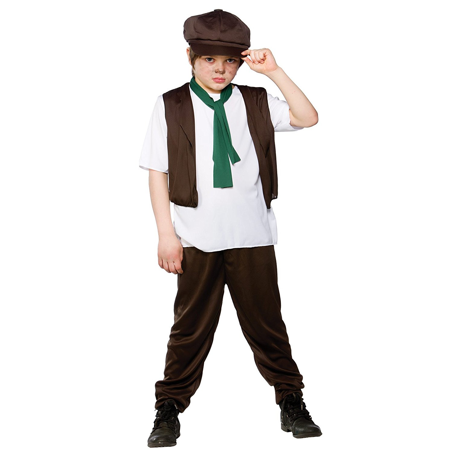 Boys Fancy Dress Costume Victorian Shirt Trousers Scarf
