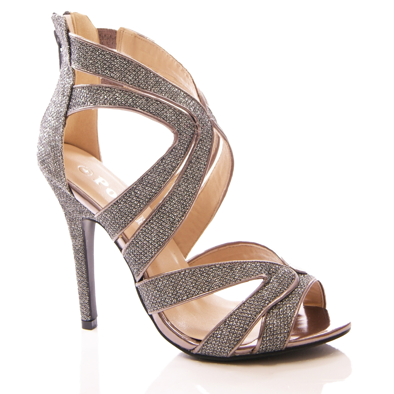 Pewter Strappy Dress Shoes