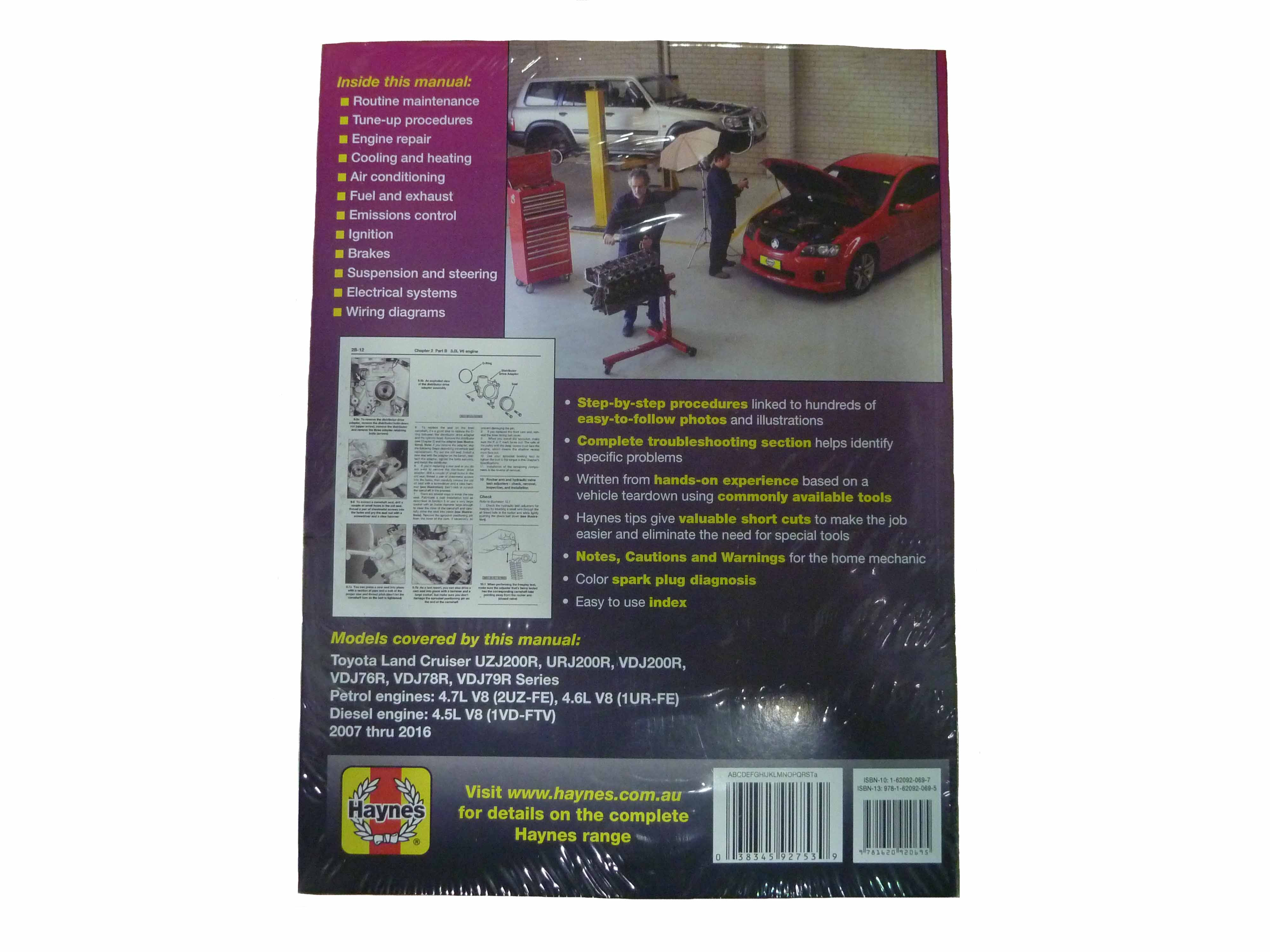 haynes workshop manual suitable for landcruiser vdj uzj urj 76 78 79 rh ebay com au 3D View Landcruiser 76 76 Land Cruiser in Deep Snow