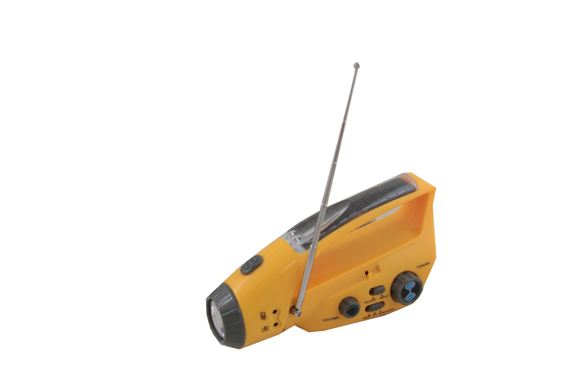 Wind-Up-Dynamo-Solar-Flashlight-Charger-FM-Radio thumbnail 5