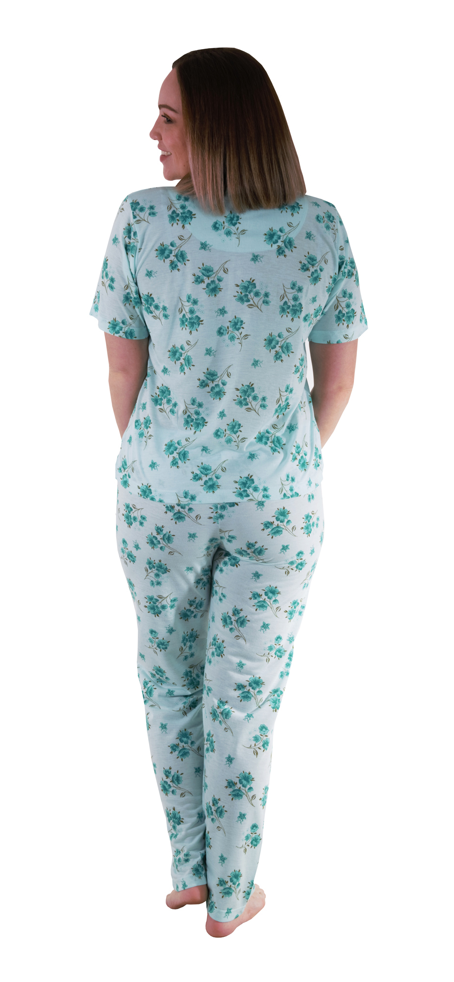 44441a131a5e i-Smalls Ladies Cotton Pyjama Set Short Sleeve Floral Printed Women ...