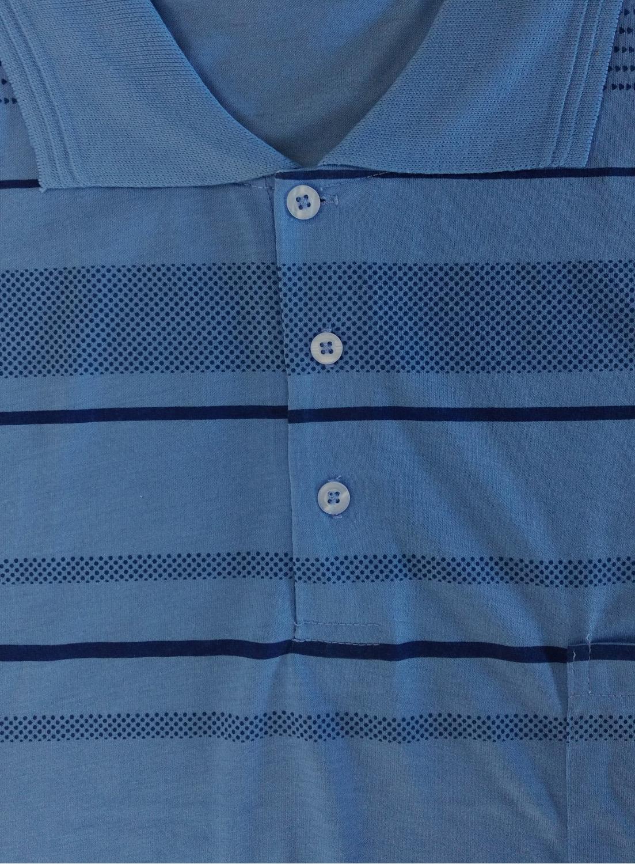 i-Smalls Mens Comfortable Soft Cotton Striped Polo Shirt