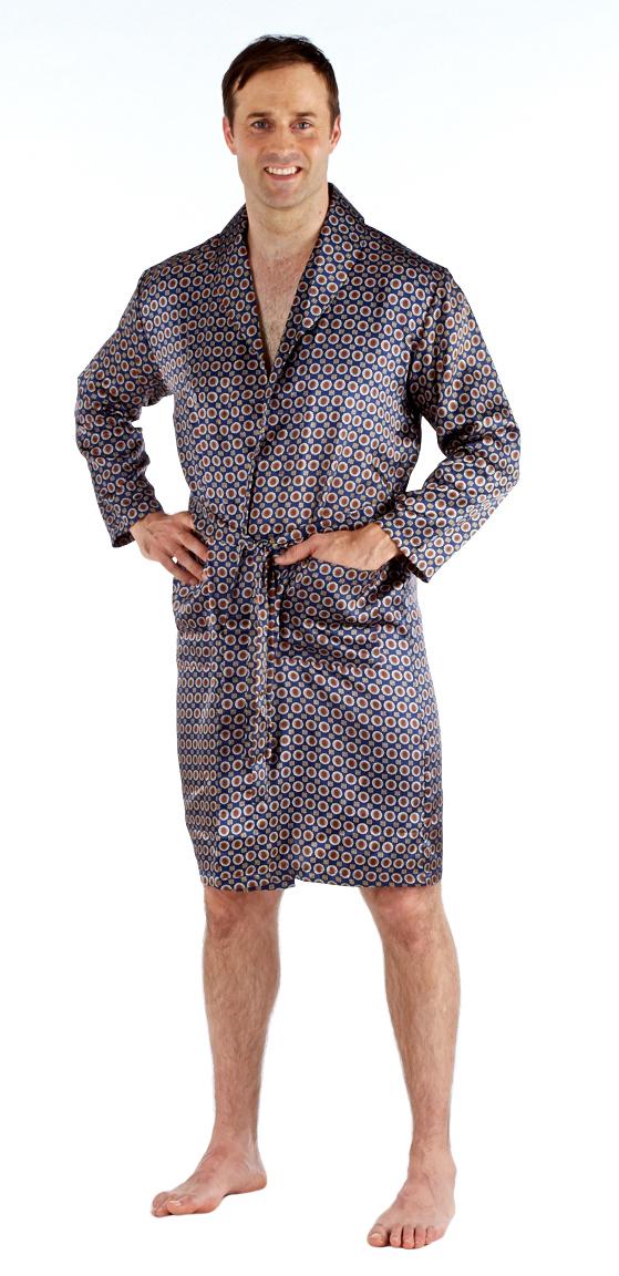 Harvey James Mens Satin Lightweight Summer Wrap Dressing Gown Bath