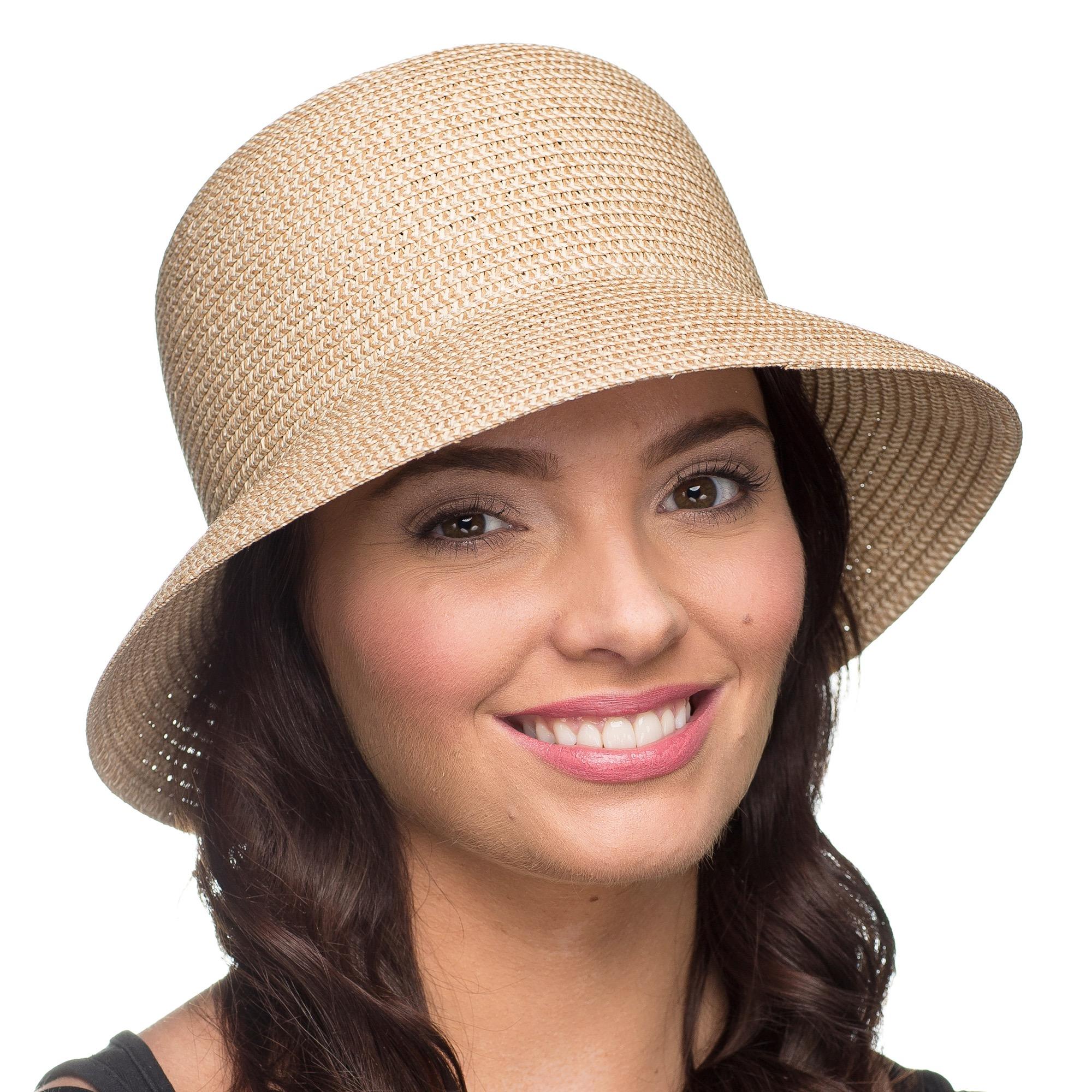 41d6c4d59ab Details about i-Smalls Women s Summer Lightweight Wide Brim Cloche Sun Hat  (One Size) Natural