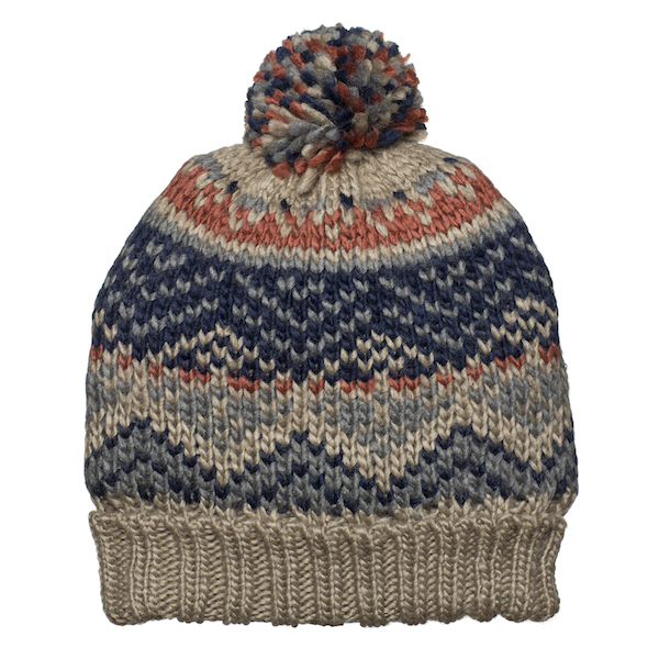 Men's Knit Fairisle Pattern Fleece Lined Warm Beanie Hat & Scarf ...