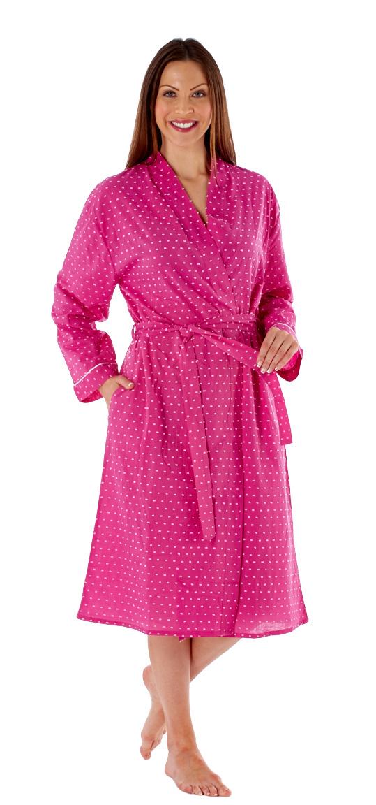 Inspirations Women\'s Amanda Long Summer Kimono Wrap Dressing Gown ...