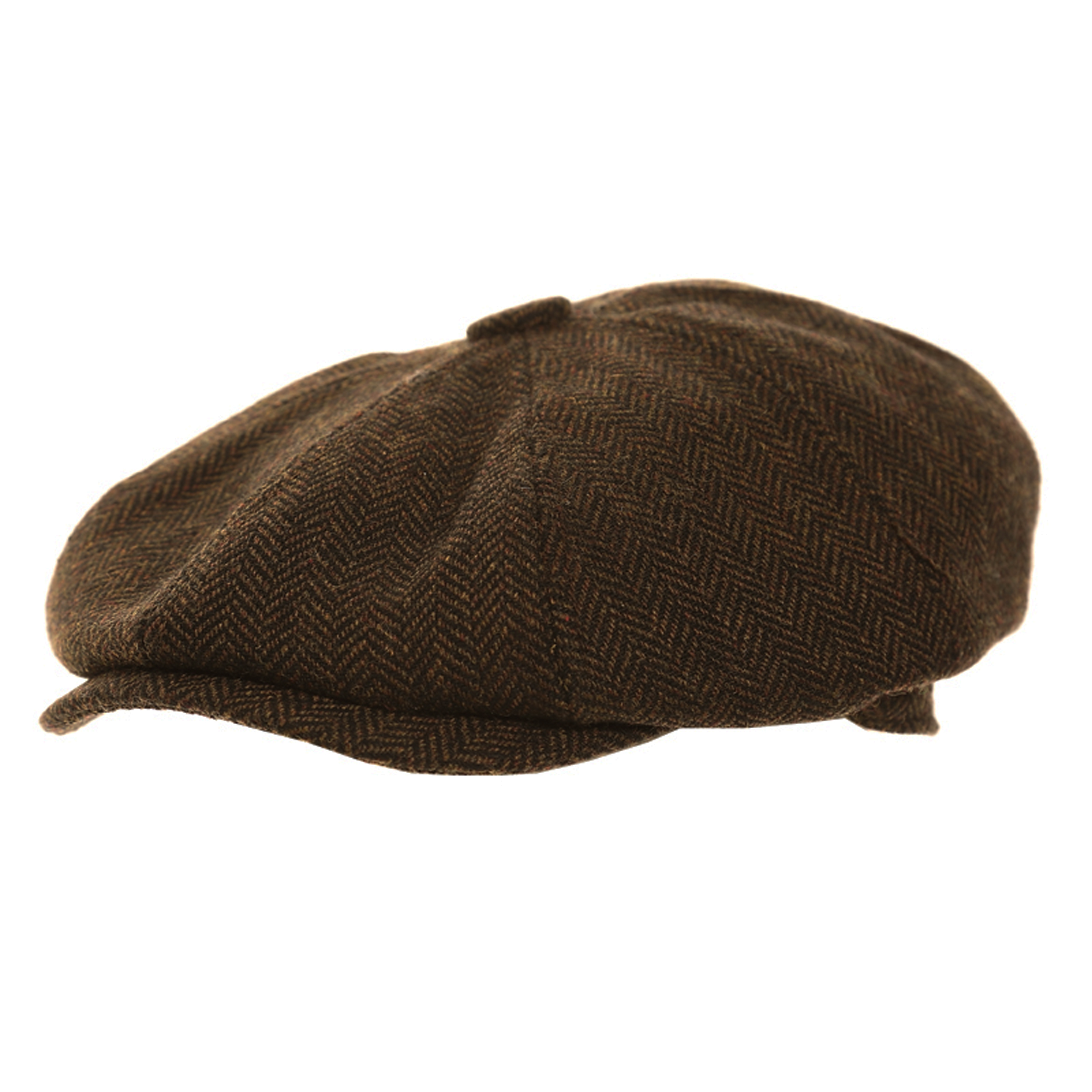 dd7ee8f2b6c ... Men s Herringbone Tweed Wool Blend Peaky Blinders Gatsby Flat Cap 57cm  Brown. About this product. Picture 1 of 2  Picture 2 of 2