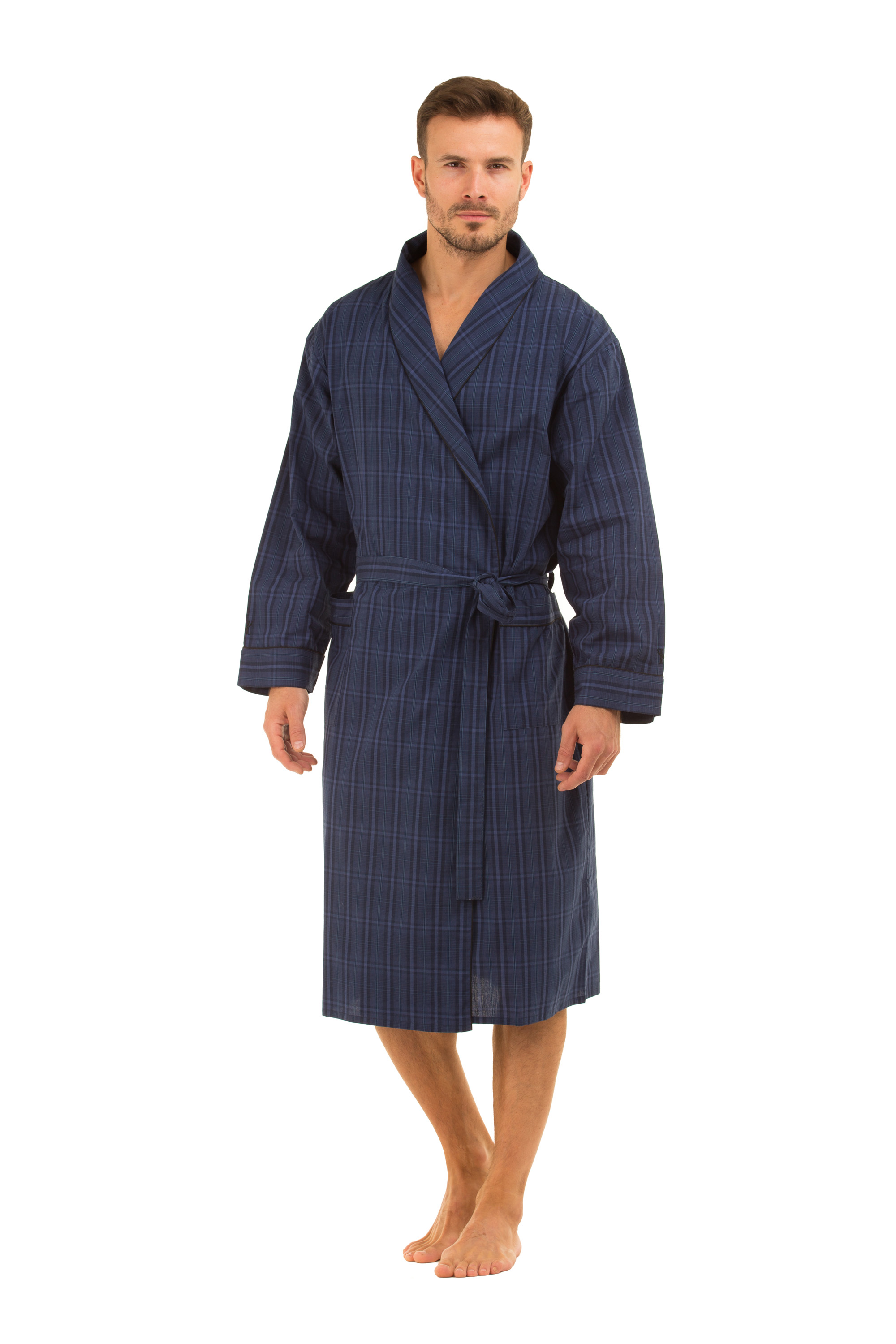Haigman Men\'s Cotton Dressing Gown Bath Robe Kimono Nightwear ...