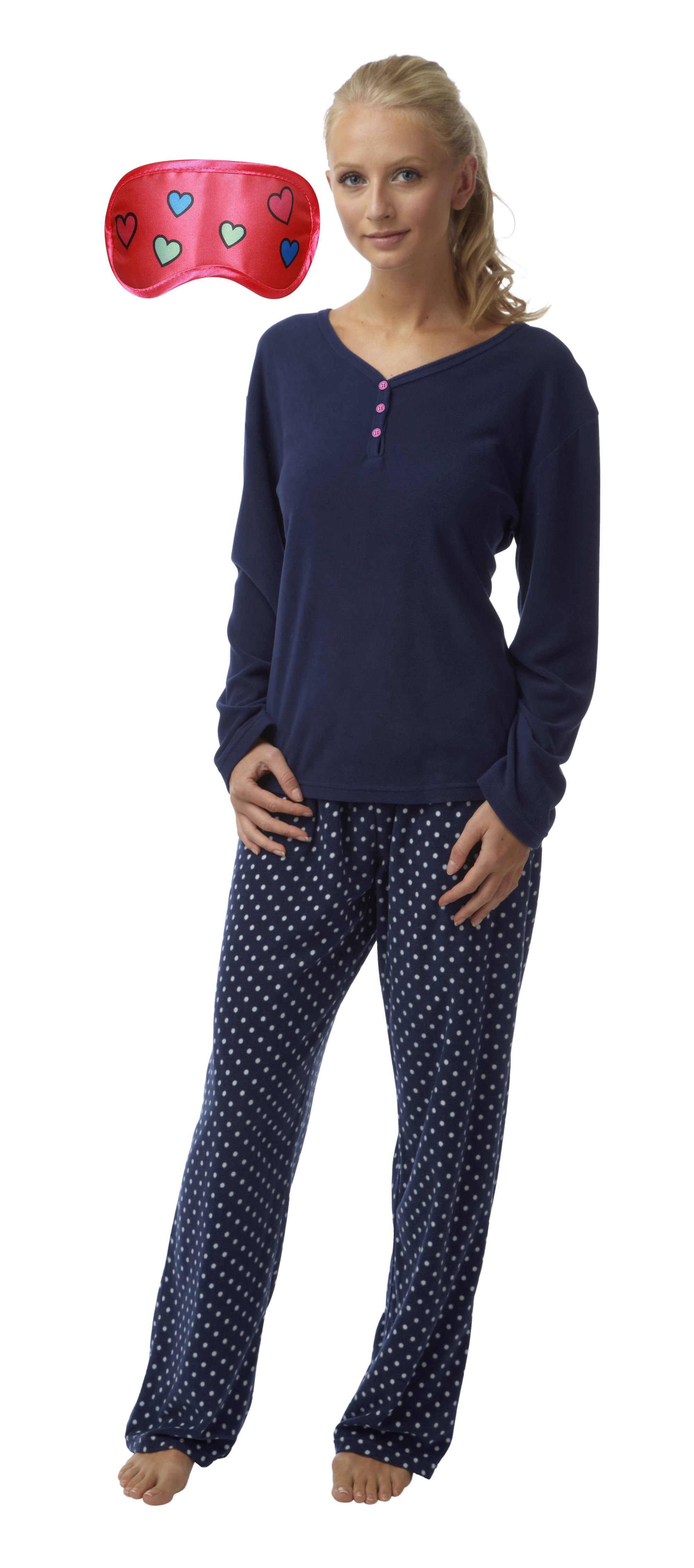femmes chaud confortable polaire longue lapin pyjama libre masque yeux avec certains designs ebay. Black Bedroom Furniture Sets. Home Design Ideas