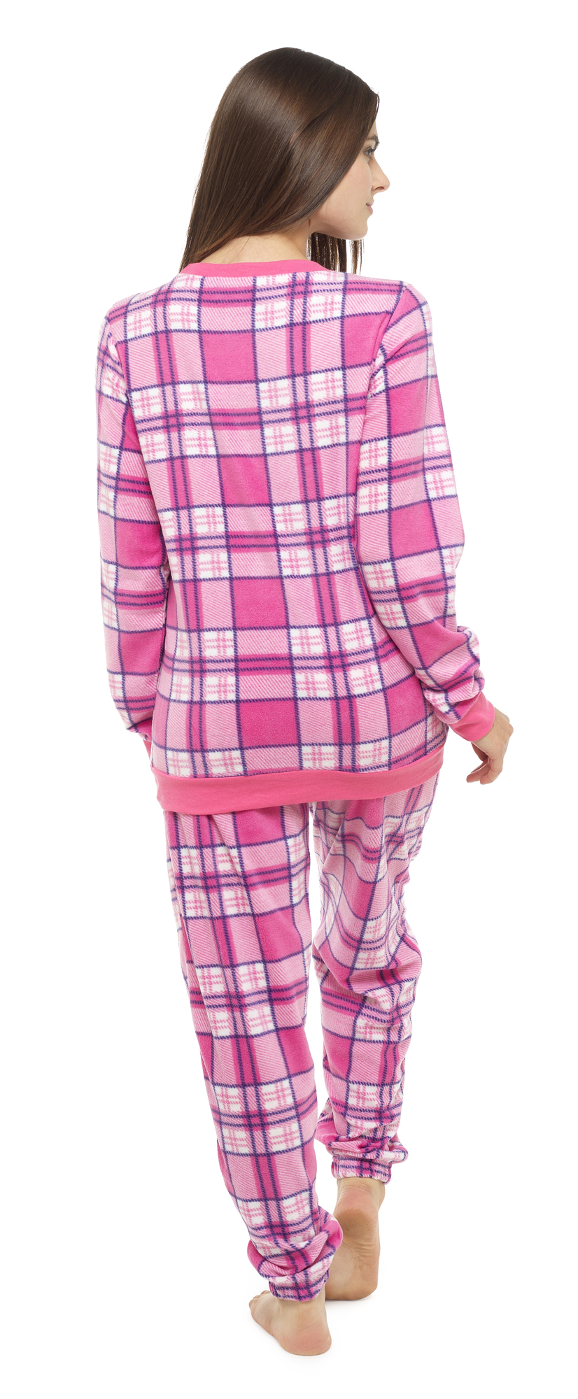 i-Smalls-Women-039-s-Check-Print-Twosie-Pyjama-Set-in-Super-Soft-Microfleece