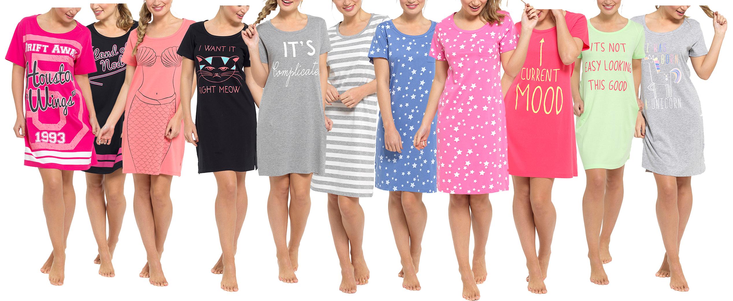 meilleure sélection bc4f1 15751 Détails sur femmes sélection de coton manche courte printemps été chemise  de nuit