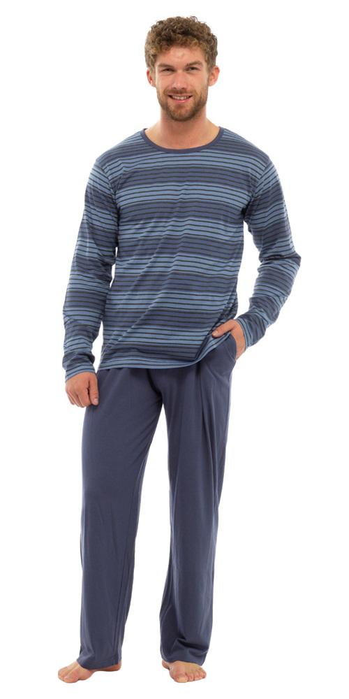 Tom-Franks-homme-en-coton-a-rayures-long-pyjama-Sleepwear-Nightwear-Set-HT339