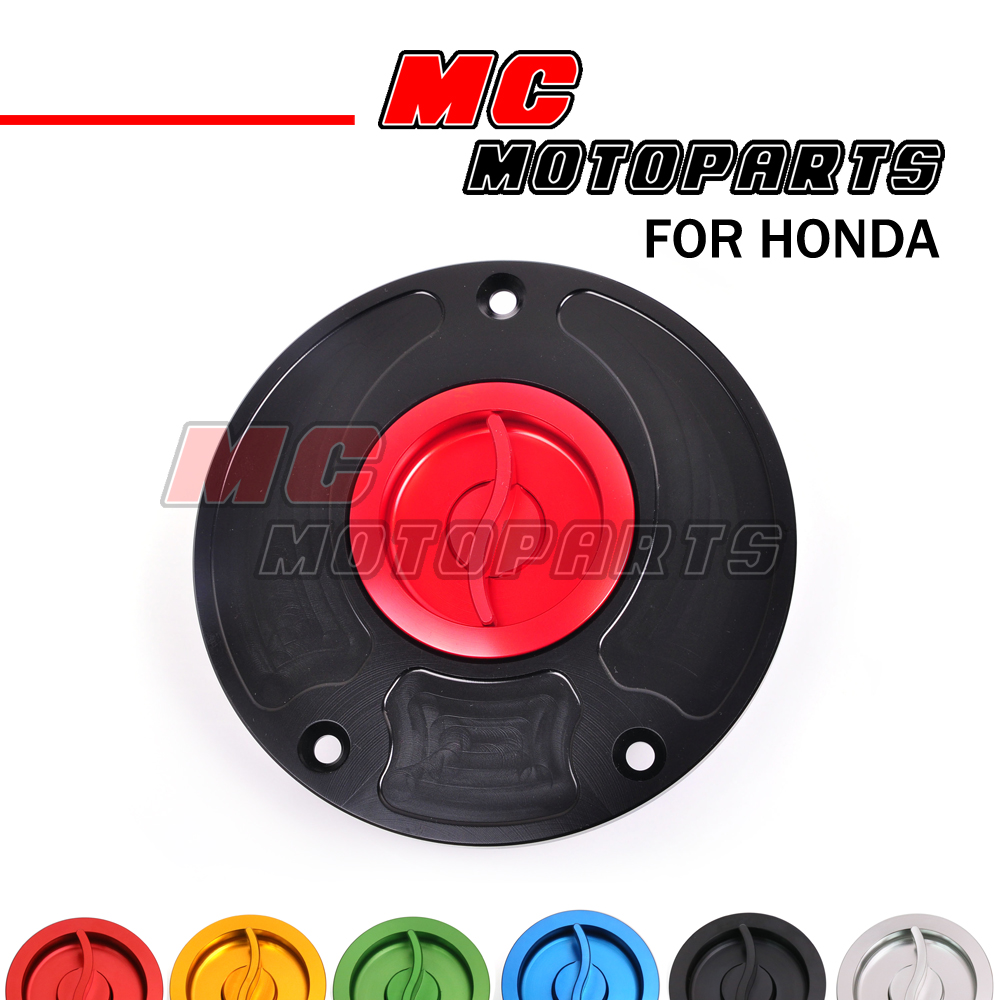 Auto Parts & Accessories Keyless CNC Gas Fuel Tank Cap For HONDA CBR 600 F4 F3 F2 1991-2008 Quick Release Motorcycle Gas Tanks