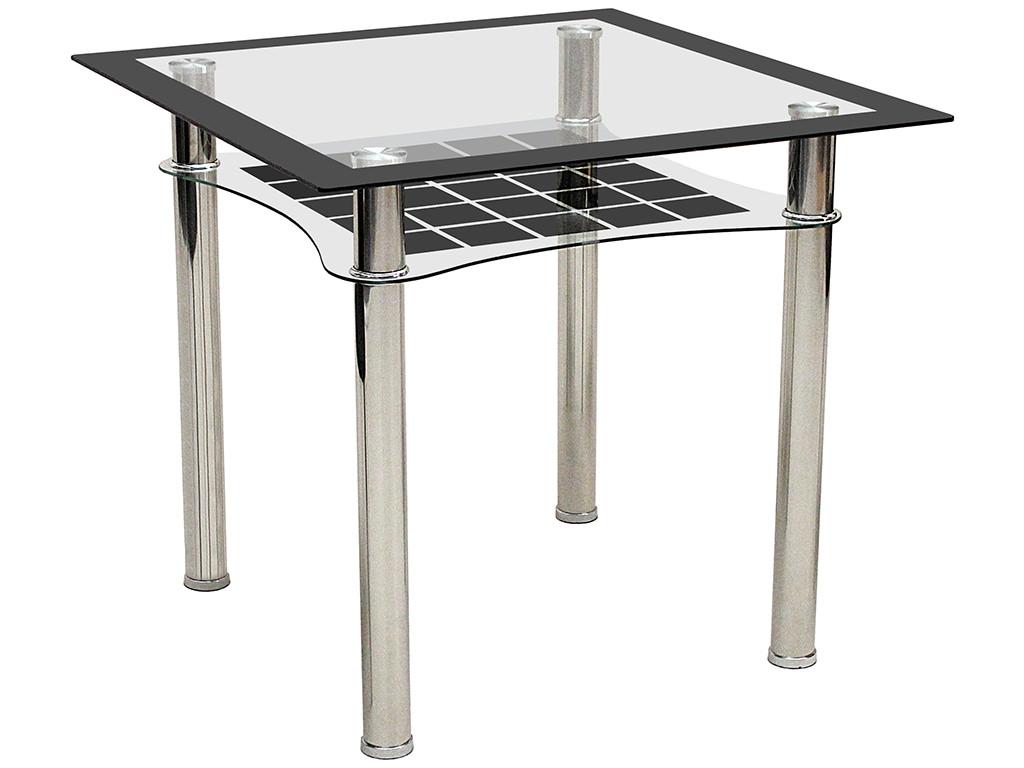 metal black glass square dining table ebay. Black Bedroom Furniture Sets. Home Design Ideas
