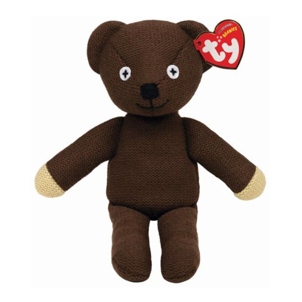 ty beanie babies mr bean teddy uk exclusive ebay. Black Bedroom Furniture Sets. Home Design Ideas
