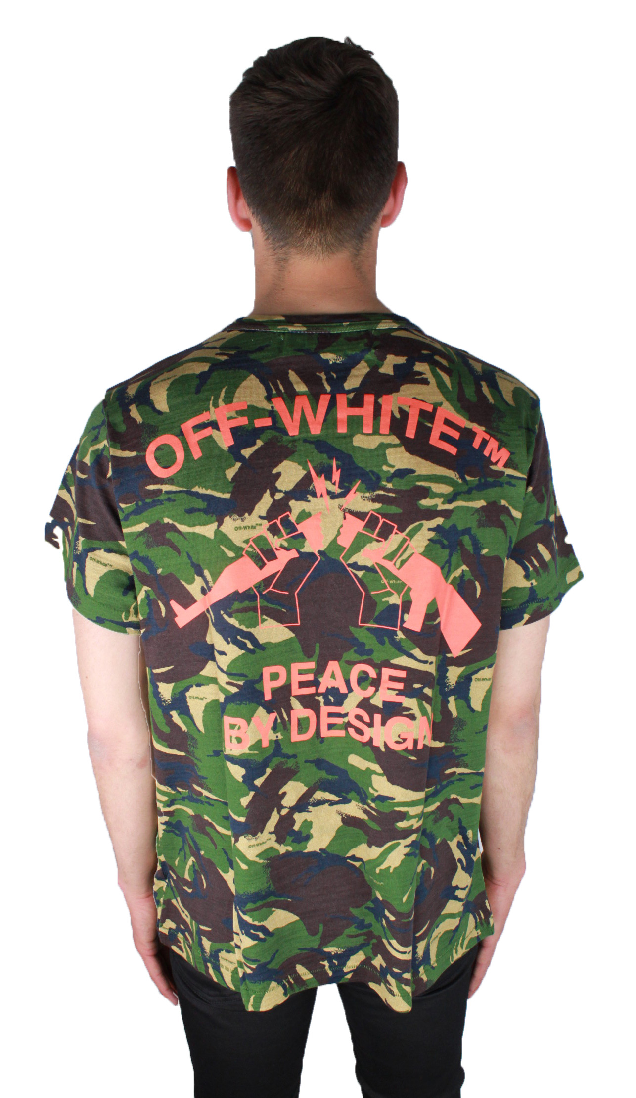 Details about Off-White Camouflage Tee OMAA002 S17411143 9919 T-Shirt 308ec354c4c
