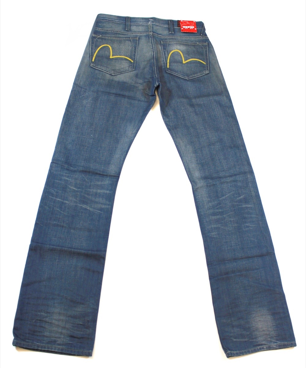 Evisu Classic Slim Logo bluee Jeans