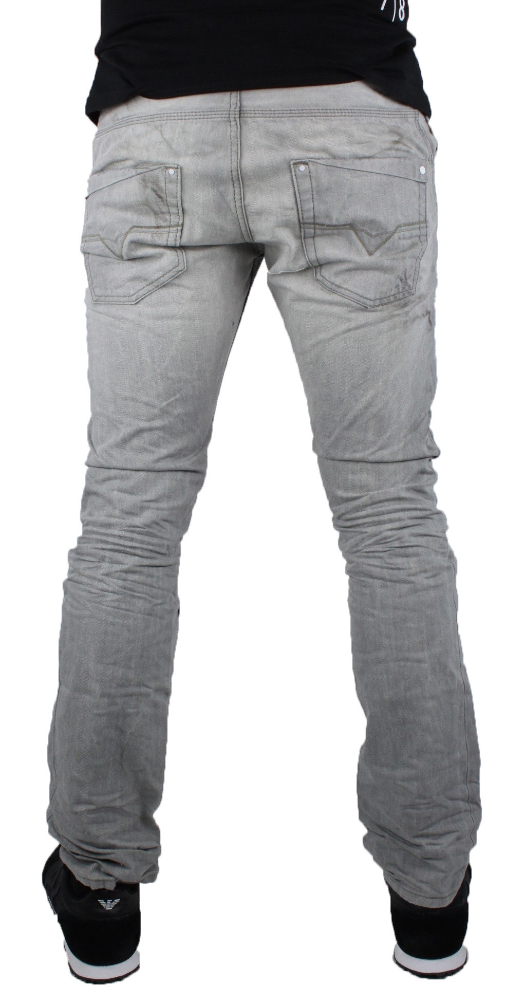 Diesel Krooley 887Q Jeans Grigio 0887Q 0887Q 0887Q Uomo 9c7b9a