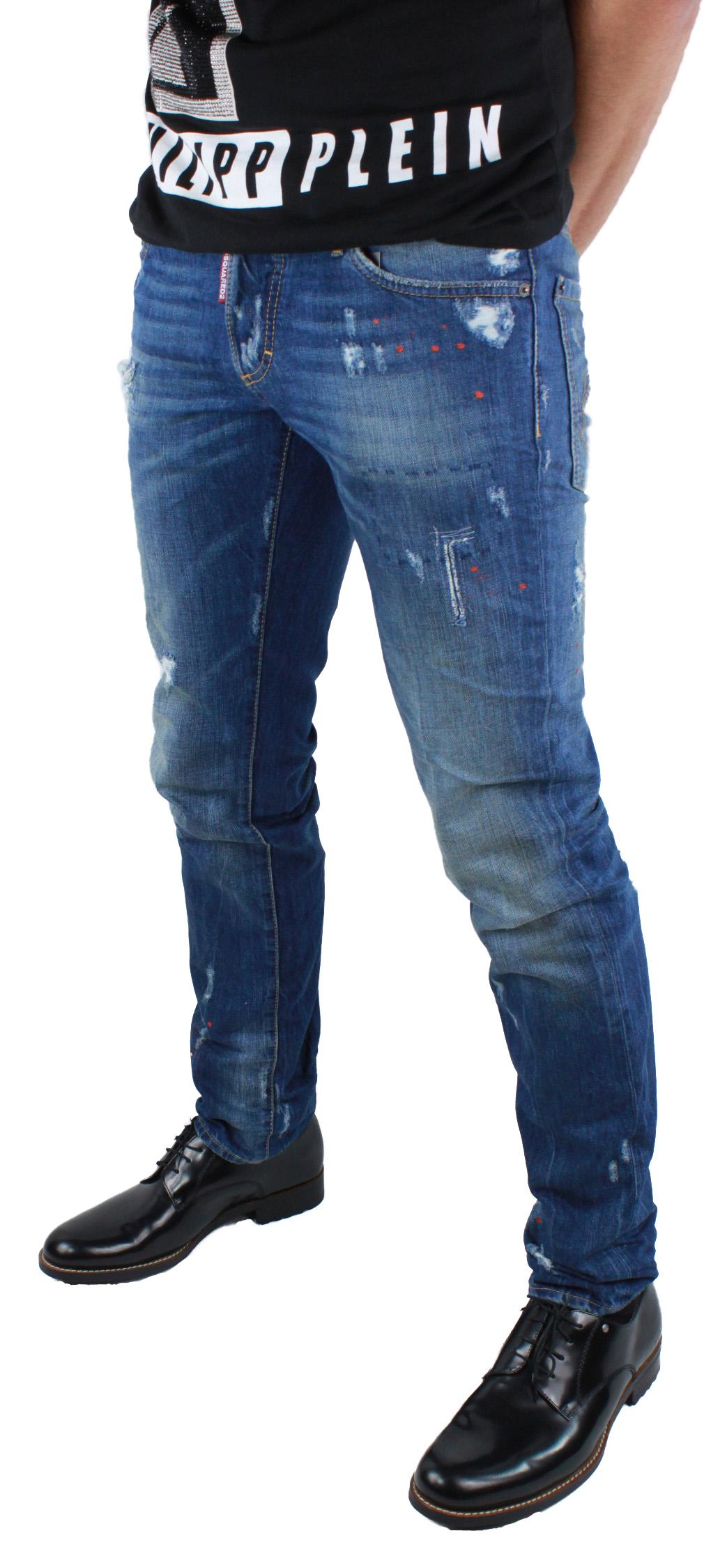 Dsquared2 Slim Jean S74la0918 S30309 470 Jeans Blu Dsquared D2 Uomo ... 4f56a4479857
