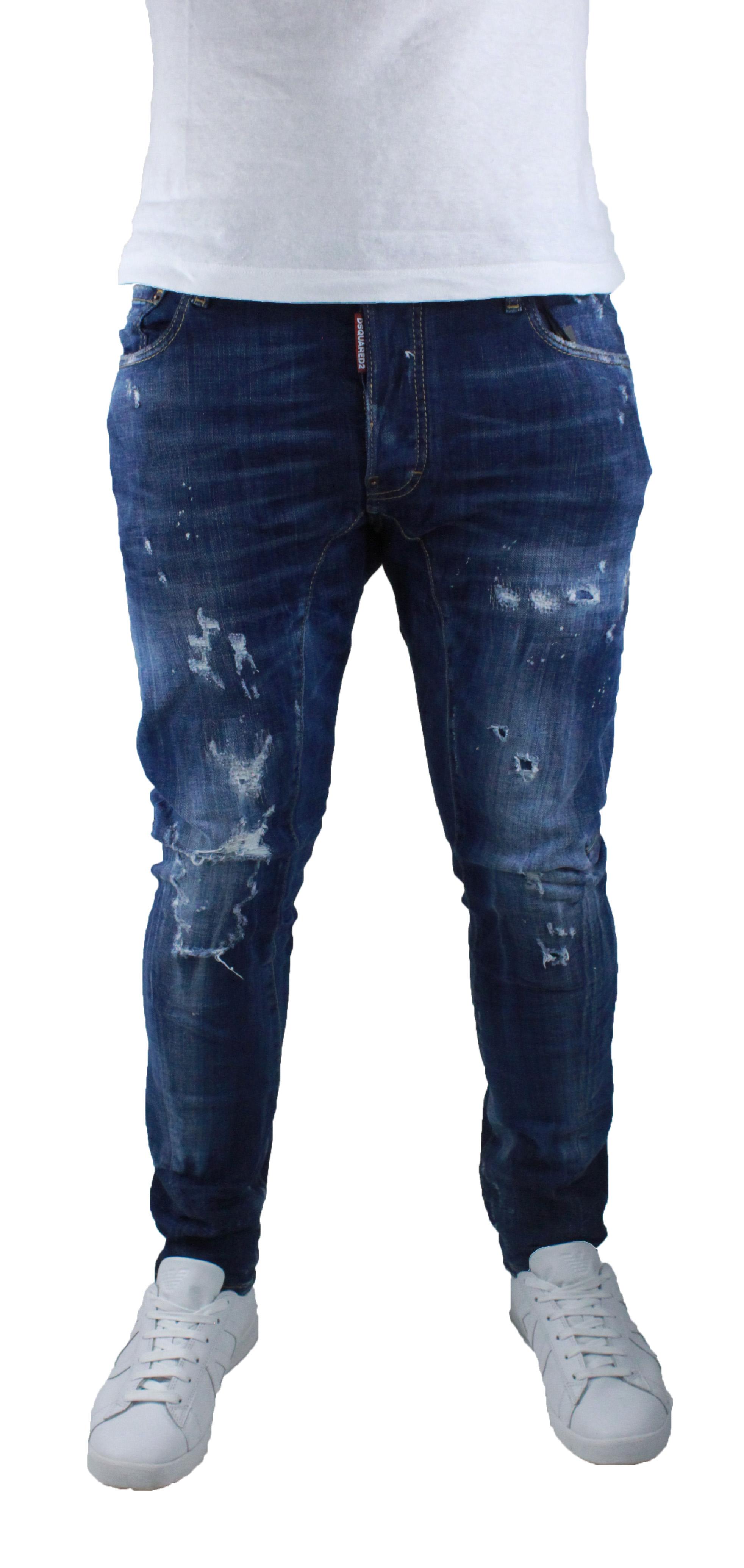 91ca512873685 DSquared2 Tidy Biker S71LB0266 S30342 470 Jeans   eBay
