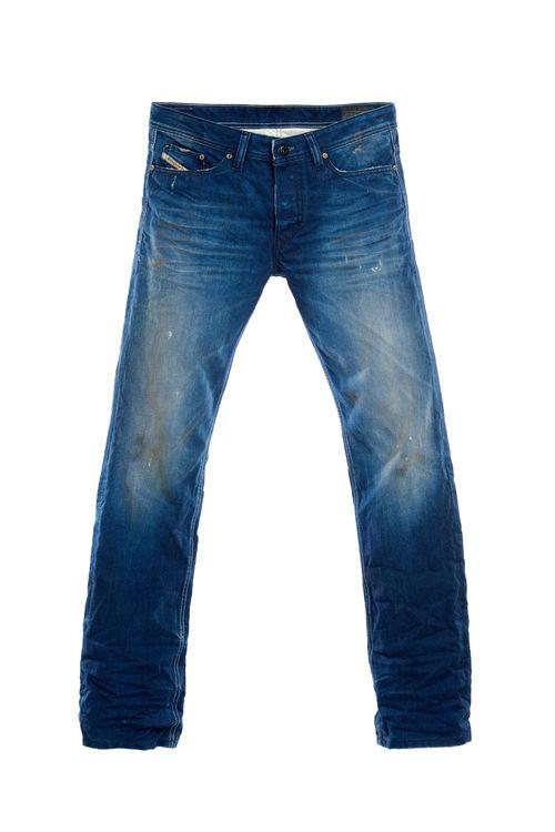 Diesel Herren Straight-Cut-Jeans Viker 0811P Jeans