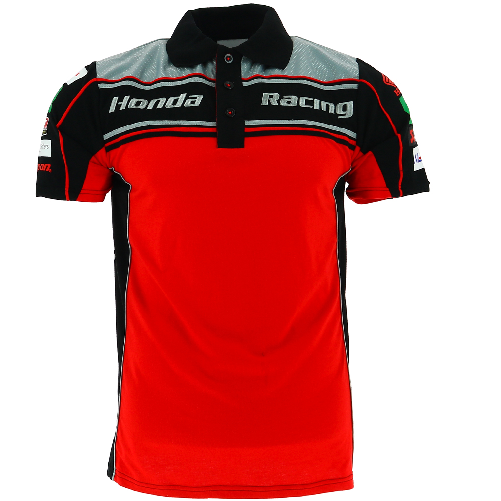 Honda Racing British Super Bikes Bsb Polo Shirt Official
